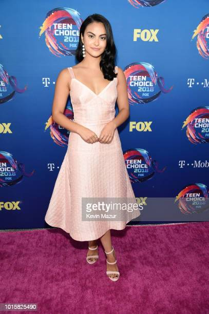Camila Mendes attends FOX's Teen Choice Awards at The Forum on August 12 2018 in Inglewood California
