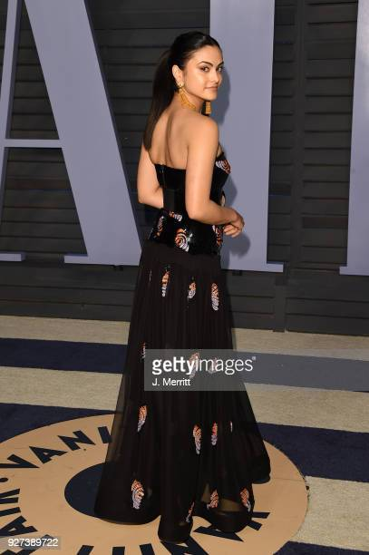 Camila Mendes attends the 2018 Vanity Fair Oscar Party hosted by Radhika Jones at the Wallis Annenberg Center for the Performing Arts on March 4 2018...