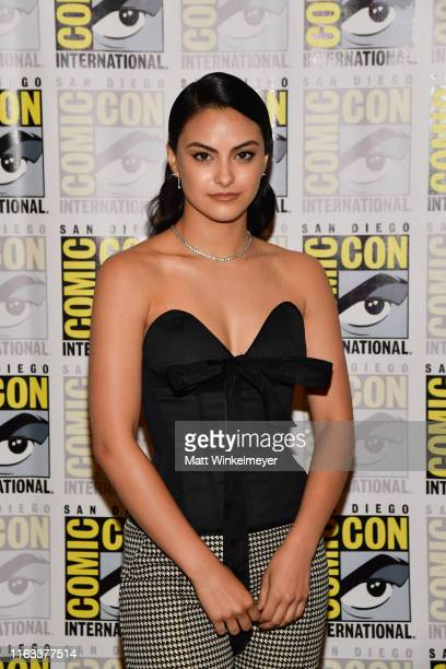 """Camila Mendes attends the 2019 Comic-Con International """"Riverdale"""" photo call at Hilton Bayfront on July 21, 2019 in San Diego, California."""