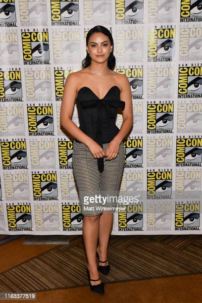 "Camila Mendes attends the 2019 Comic-Con International ""Riverdale"" photo call at Hilton Bayfront on July 21, 2019 in San Diego, California."