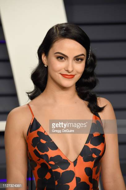Camila Mendes attends the 2019 Vanity Fair Oscar Party hosted by Radhika Jones at Wallis Annenberg Center for the Performing Arts on February 24,...