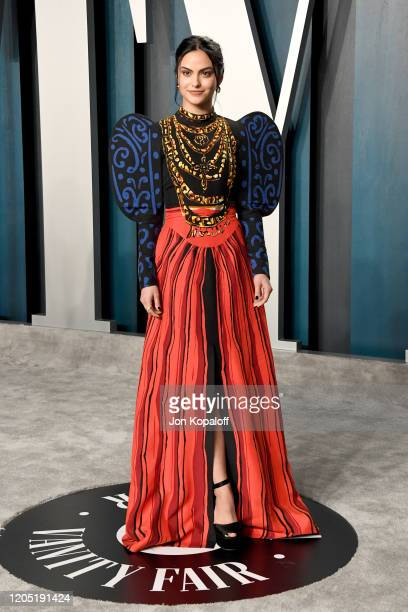 Camila Mendes attends the 2020 Vanity Fair Oscar Party hosted by Radhika Jones at Wallis Annenberg Center for the Performing Arts on February 09 2020...