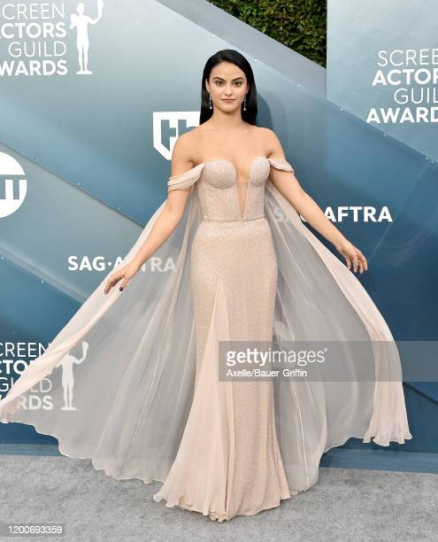 Camila Mendes attends the 26th Annual Screen Actors Guild Awards at The Shrine Auditorium on January 19, 2020 in Los Angeles, California.