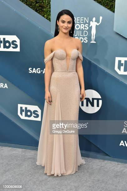Camila Mendes attends the 26th Annual Screen ActorsGuild Awards at The Shrine Auditorium on January 19, 2020 in Los Angeles, California. 721430