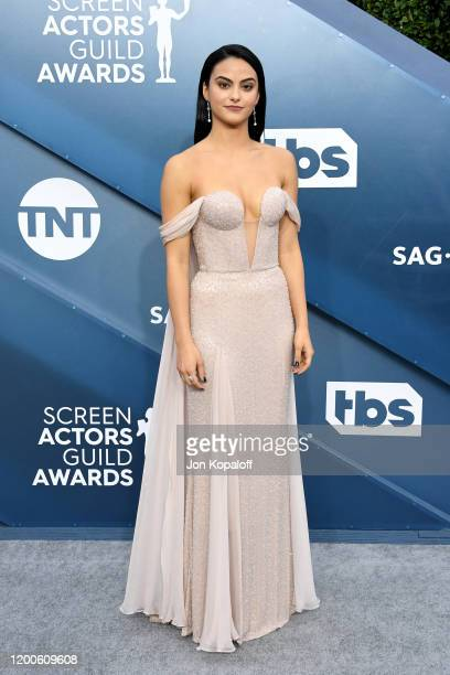 Camila Mendes attends the 26th Annual Screen ActorsGuild Awards at The Shrine Auditorium on January 19, 2020 in Los Angeles, California.