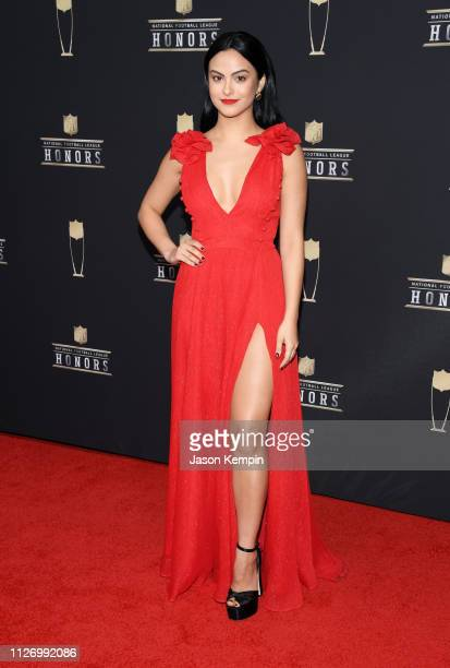 Camila Mendes attends the 8th Annual NFL Honors at The Fox Theatre on February 02 2019 in Atlanta Georgia