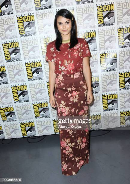 Camila Mendes attends the Riverdale special video presentation and QA during ComicCon International 2018 at San Diego Convention Center on July 22...