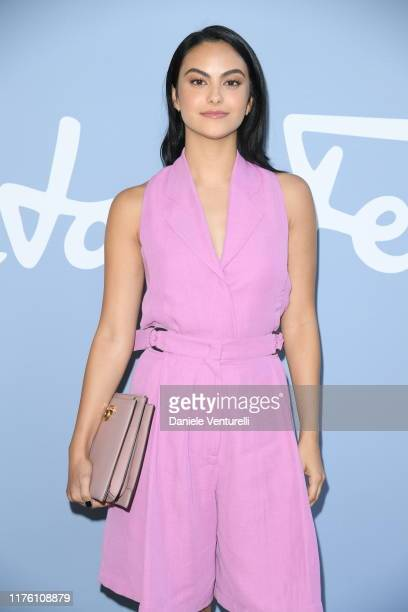 Camila Mendes attends the Salvatore Ferragamo show during Milan Fashion Week Spring/Summer 2020 on September 21, 2019 in Milan, Italy.