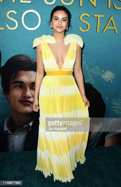 "Camila Mendes attends the World Premiere Of Warner Bros ""The Sun Is Also A Star"" at Pacific Theaters at the Grove on May 13, 2019 in Los Angeles,..."