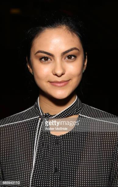 Camila Mendes from the cast of 'Riverdale' visits Broadway's 'Bandstand' at the Bernard Jacobs Theate on May 19 2017 in New York City