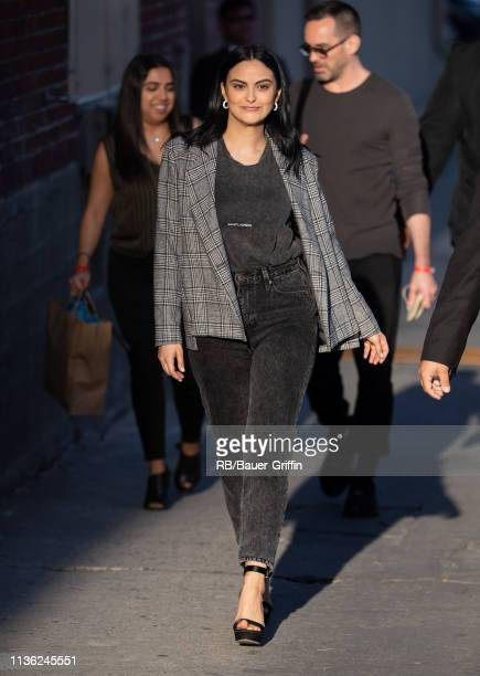 Camila Mendes is seen at 'Jimmy Kimmel Live' on April 10, 2019 in Los Angeles, California.