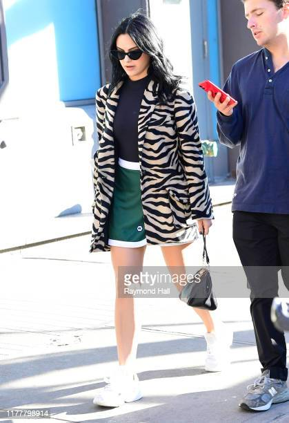 Camila Mendes is seen walking in soho on October 23, 2019 in New York City.