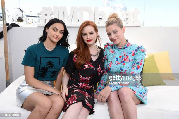 Camila Mendes Madelaine Petsch and Lili Reinhart attend the #IMDboat at San Diego ComicCon 2019 Day Three at the IMDb Yacht on July 20 2019 in San...