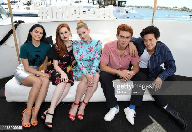 Camila Mendes Madelaine Petsch Lili Reinhart KJ Apa and Cole Sprouse attend the #IMDboat at San Diego ComicCon 2019 Day Three at the IMDb Yacht on...