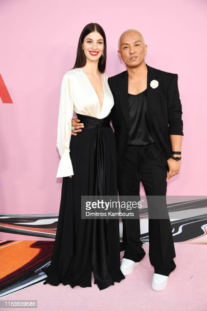 Camila Morrone and Prabal Gurung attend the CFDA Fashion Awards at the Brooklyn Museum of Art on June 03 2019 in New York City