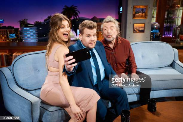Camila Morrone and Robert Plant chat with James Corden during 'The Late Late Show with James Corden' Thursday March 1 2018 On The CBS Television...