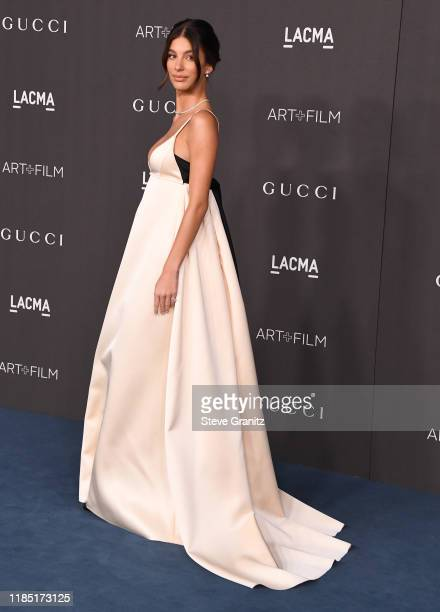 Camila Morrone arrives at the LACMA Art Film Gala Presented By Gucci on November 02 2019 in Los Angeles California