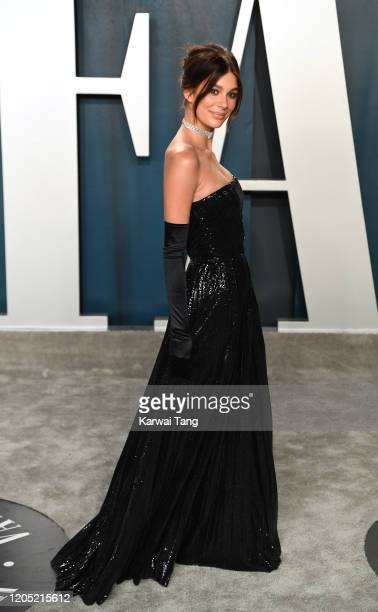 Camila Morrone arriving for the 2020 Vanity Fair Oscar Party Hosted By Radhika Jones at the Wallis Annenberg Center for the Performing Arts on...