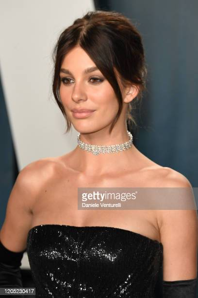 Camila Morrone attends 2020 Vanity Fair Oscar Party Hosted By Radhika Jones at Wallis Annenberg Center for the Performing Arts on February 09 2020 in...