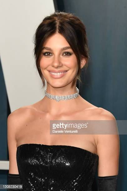 Camila Morrone attends 2020 Vanity Fair Oscar Party Hosted By Radhika Jones at Wallis Annenberg Center for the Performing Arts on February 09, 2020...