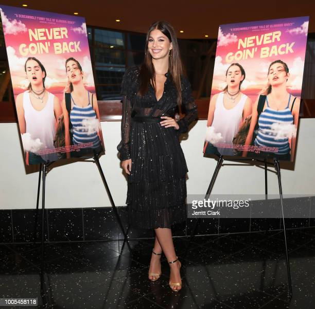Camila Morrone attends a screening and QA of A24's Never Goin' Back at ArcLight Hollywood on July 25 2018 in Hollywood California
