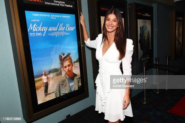 "Camila Morrone attends ""Mickey And The Bear"" Screening during the 2019 Hamptons International Film Festival on October 11 2019 in East Hampton New..."