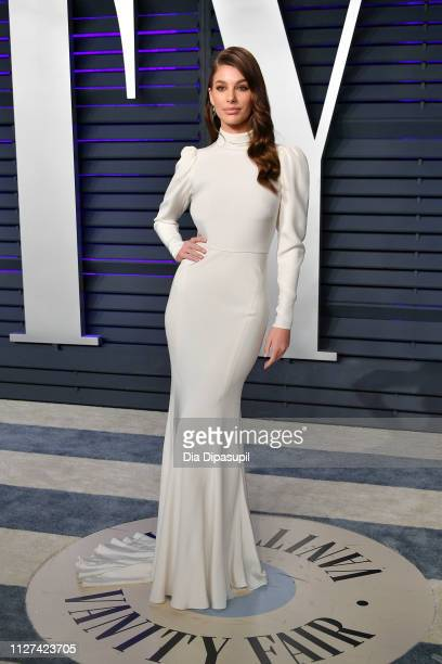 Camila Morrone attends the 2019 Vanity Fair Oscar Party hosted by Radhika Jones at Wallis Annenberg Center for the Performing Arts on February 24...