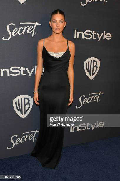 Camila Morrone attends The 2020 InStyle And Warner Bros. 77th Annual Golden Globe Awards Post-Party at The Beverly Hilton Hotel on January 05, 2020...
