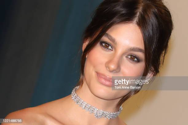 Camila Morrone attends the 2020 Vanity Fair Oscar Party at Wallis Annenberg Center for the Performing Arts on February 09, 2020 in Beverly Hills,...