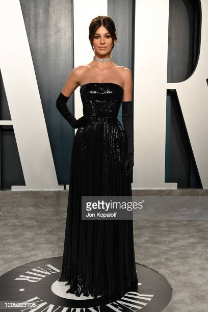 Camila Morrone attends the 2020 Vanity Fair Oscar Party hosted by Radhika Jones at Wallis Annenberg Center for the Performing Arts on February 09...