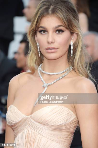 Camila Morrone attends The Beguiled premiere during the 70th annual Cannes Film Festival at Palais des Festivals on May 24 2017 in Cannes France