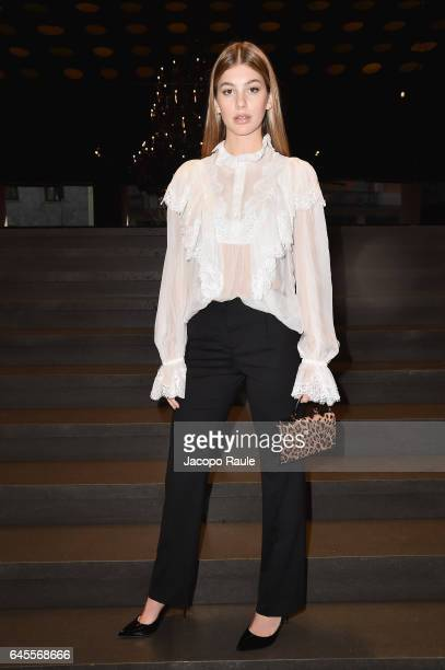 Camila Morrone attends the Dolce Gabbana show during Milan Fashion Week Fall/Winter 2017/18 on February 26 2017 in Milan Italy