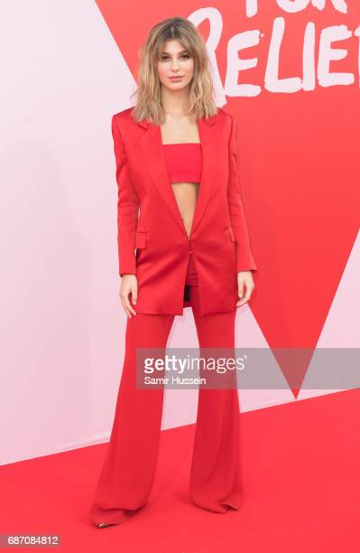 Camila Morrone attends the Fashion for Relief event during the 70th annual Cannes Film Festival at Aeroport Cannes Mandelieu on May 21 2017 in Cannes...