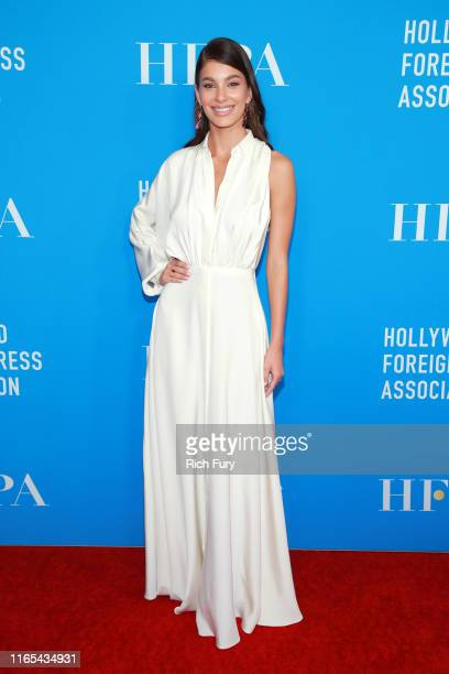 Camila Morrone attends the Hollywood Foreign Press Association's Annual Grants Banquet at Regent Beverly Wilshire Hotel on July 31 2019 in Beverly...