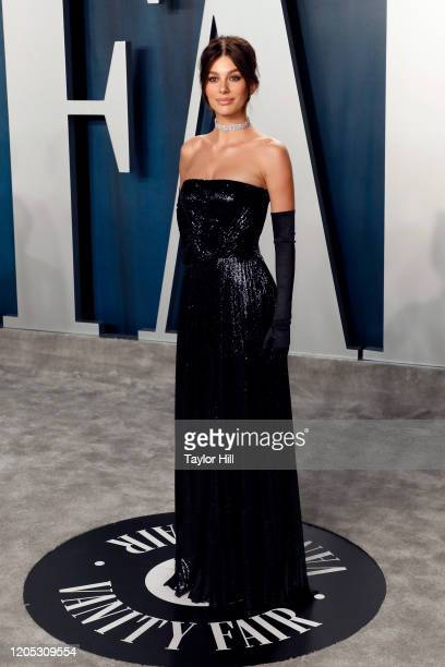 Camila Morrone attends the Vanity Fair Oscar Party at Wallis Annenberg Center for the Performing Arts on February 09 2020 in Beverly Hills California