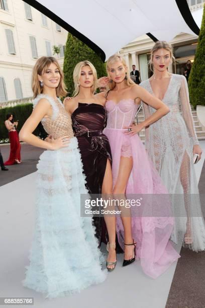 Camila Morrone Hailey Baldwin Elsa Hosk and Martha Hunt arrive at the amfAR Gala Cannes 2017 at Hotel du CapEdenRoc on May 25 2017 in Cap d'Antibes...