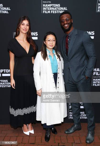 Camila Morrone Lulu Wang and Aldis Hodge attend Winick Talks Breakthrough Artists during the 2019 Hamptons International Film Festival at Rowdy Hall...