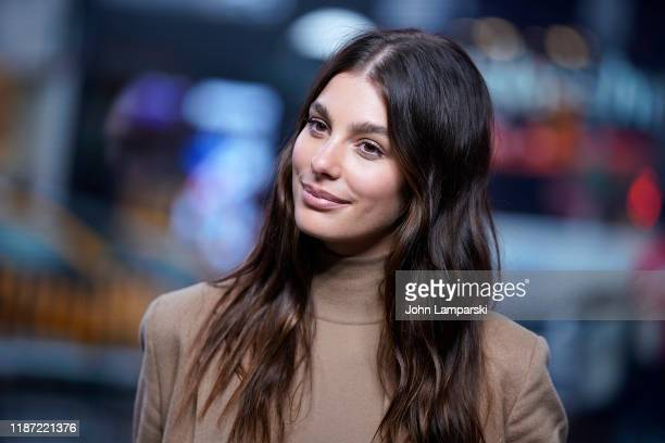 Camila Morrone visits Extra at The Levi's Store Times Square on November 12 2019 in New York City