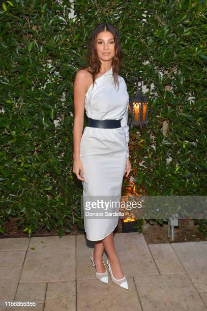 Camila Morrone wearing Max Mara attends the 2019 Women In Film Max Mara Face Of The Future celebrating Elizabeth Debicki at Chateau Marmont on June...