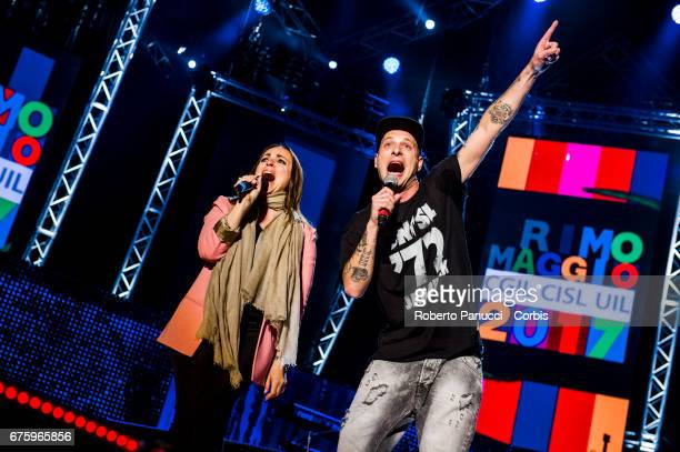 Camila Raznovich and Clementino present the 1st Of May Concert on May 01 2017 in Rome Italy