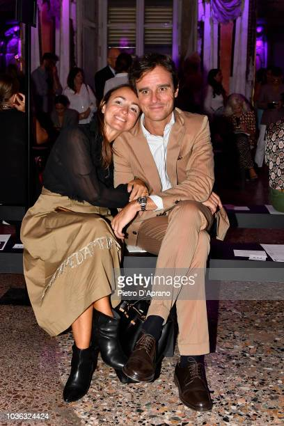 Natalia Bonifacci attends the Genny show during Milan Fashion Week Spring/Summer 2019 on September 20 2018 in Milan Italy