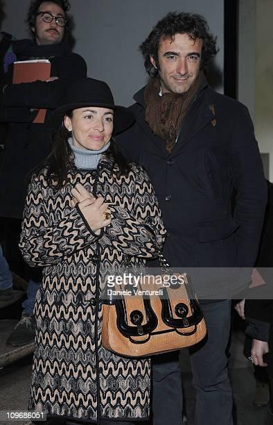 Camila Raznovich and Eugenio Campari attend the Missoni fashion show as part of Milan Fashion Week Womenswear Autumn/Winter 2011 on February 27 2011...