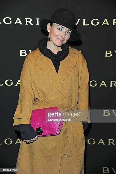 Camila Raznovich attends Bulgari Present Mediterranean Eden cocktail party at the Bulgari Hotel during Milan Fashion Week Womenswear A/W 2011 on...