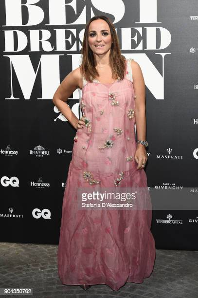 Camila Raznovich attends GQ Best Dressed Man 2018 during Milan Men's Fashion Week Fall/Winter 2018/19 on January 12 2018 in Milan Italy
