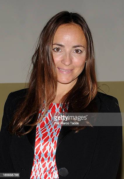 Camila Raznovich attends JTI and Ploom unveil new portable tobacco vaporizers on October 23 2013 in Milan Italy