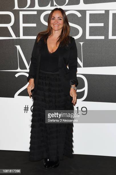 Camila Raznovich attends the GQ Best Dressed Men 2019 during Milan Menswear Fashion Week Autumn/Winter 2019/20 on January 11 2019 in Milan Italy