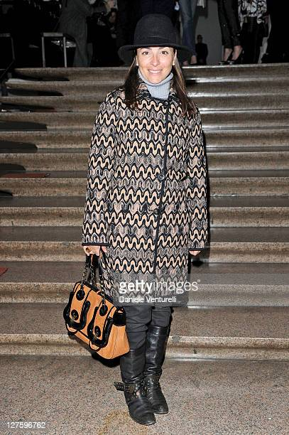 Camila Raznovich attends the Missoni fashion show as part of Milan Fashion Week Womenswear Autumn/Winter 2011 on February 27 2011 in Milan Italy