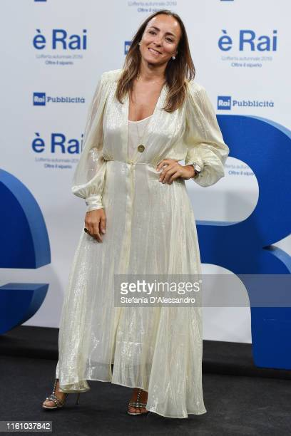 Camila Raznovich attends the Rai Show Schedule presentation on July 09 2019 in Milan Italy