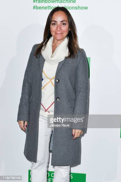 Camila Raznovich attends the United Colours Of Benetton show at Milan Fashion Week Autumn/Winter 2019/20 on February 19 2019 in Milan Italy