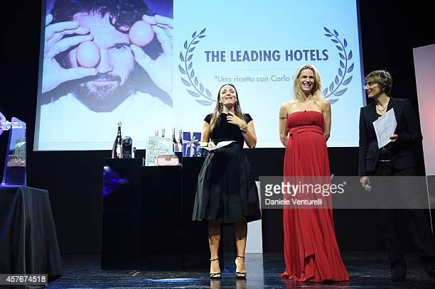 Camila Raznovich Michelle Hunziker and Giulia Bongiorno attend Un'Altra Storia Charity Event Benefiting Doppia Difesa during the 9th Rome Film...
